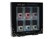 Smalto per le unghie 2K Let´s Get Colourful! Pastels 5 ml Cofanetto