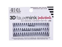 Ciglia finte Ardell 3D Faux Mink Individuals Knot-Free 60 pz Long Black