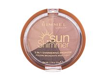 Bronzer Rimmel London Sun Shimmer 3in1 9,9 g 002 Bronze Goddess